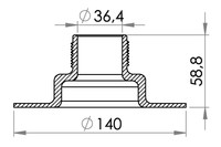 "Big drawing of 03-634 Threaded Filler Neck 1½"" (36.4 mm)"